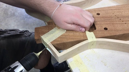 Glue Rim to Body Core and Reinforce Connection Points