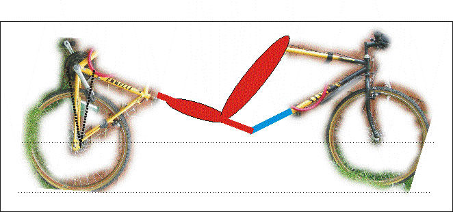 """Picture of Recumbent cycle: """"blue sky"""" design query"""