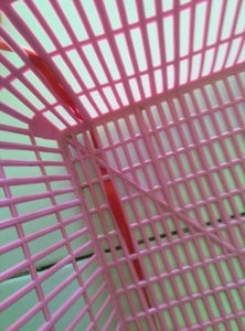 Ribbon and Plastic Basket