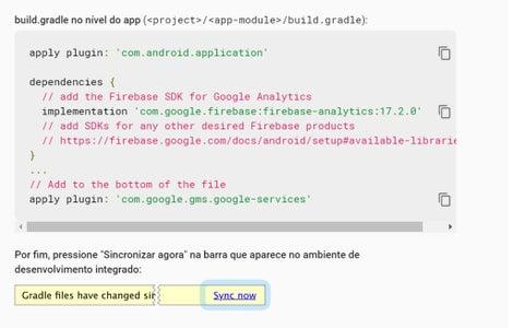 Projeto Android Passo 5 De 8: Configurando Acesso Ao Firebase - Passo 3 De 3