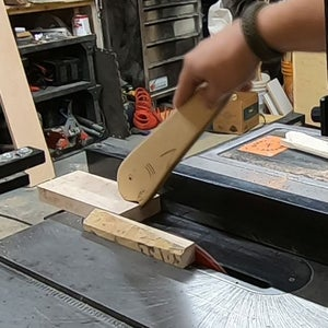 Cutting the Maple Outside Pieces