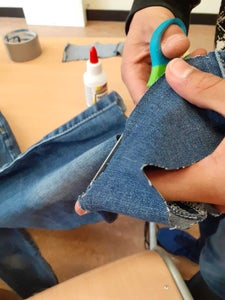 Continue Wrapping and Then Start Cutting Out Your Jeans/cloth