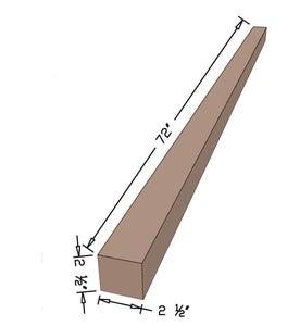 """Trim 4x4 Board to 2 1/2""""x2 1/2"""""""