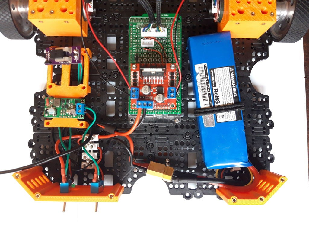 Picture of Motor Group and Arduino on the Bottom Layer