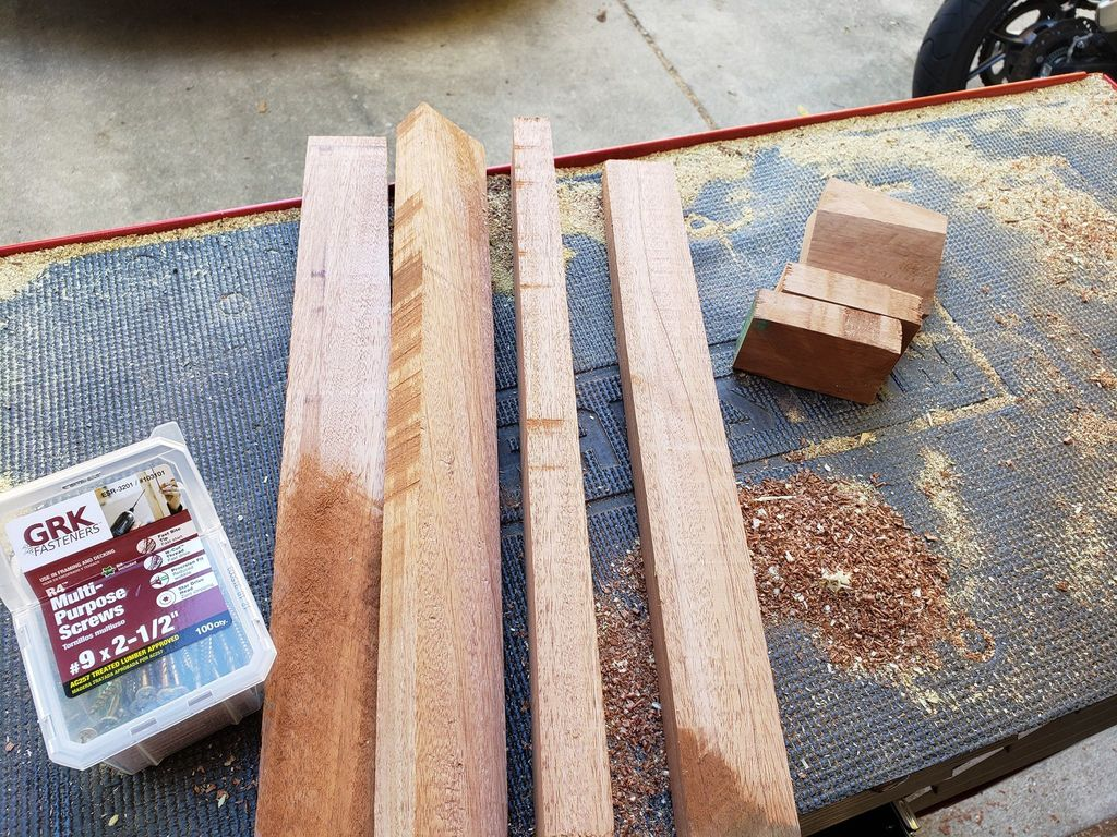 Picture of Brace Cuts, Wood Filler, Leather Strips
