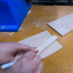 Making the Ends Part 3 - Cutting to Shape and Drilling the Hole