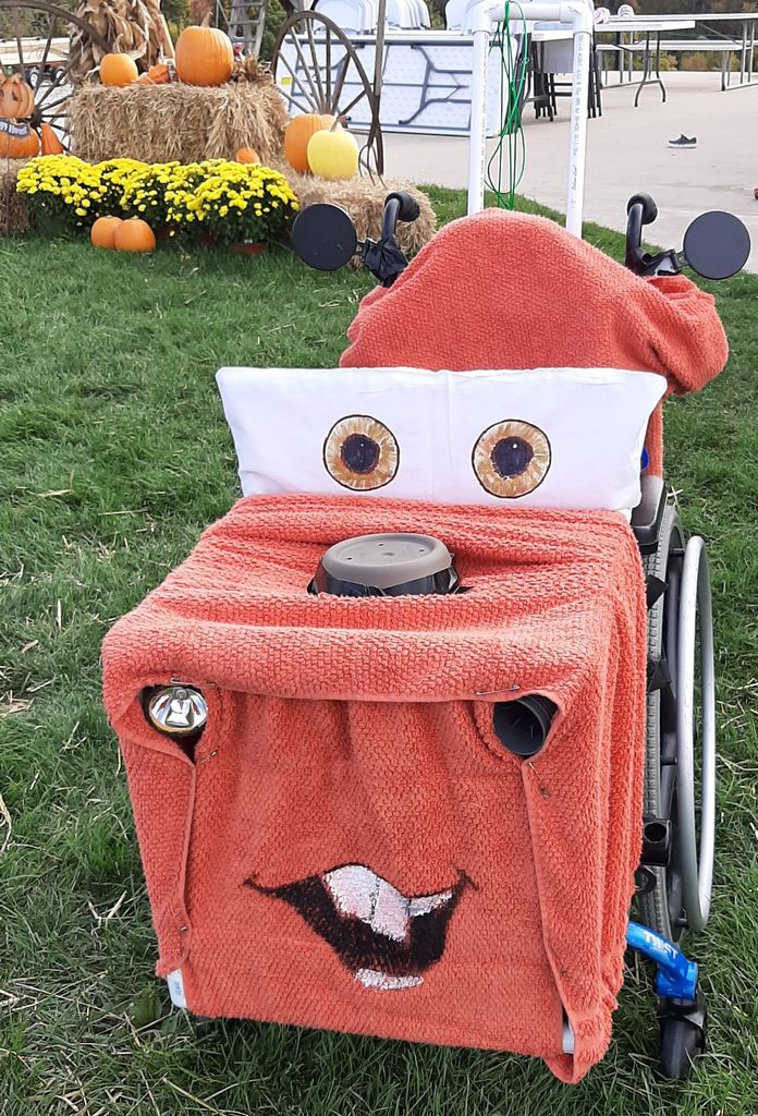 Picture of Tow Mater Costume for a Wheelchair