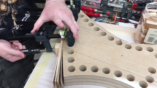 Glue and Clamp Strips Into Shape