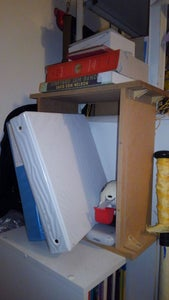 Upcycled Dresser Drawer Shelving Unit