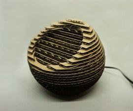 Cardboard Deskop Lamp