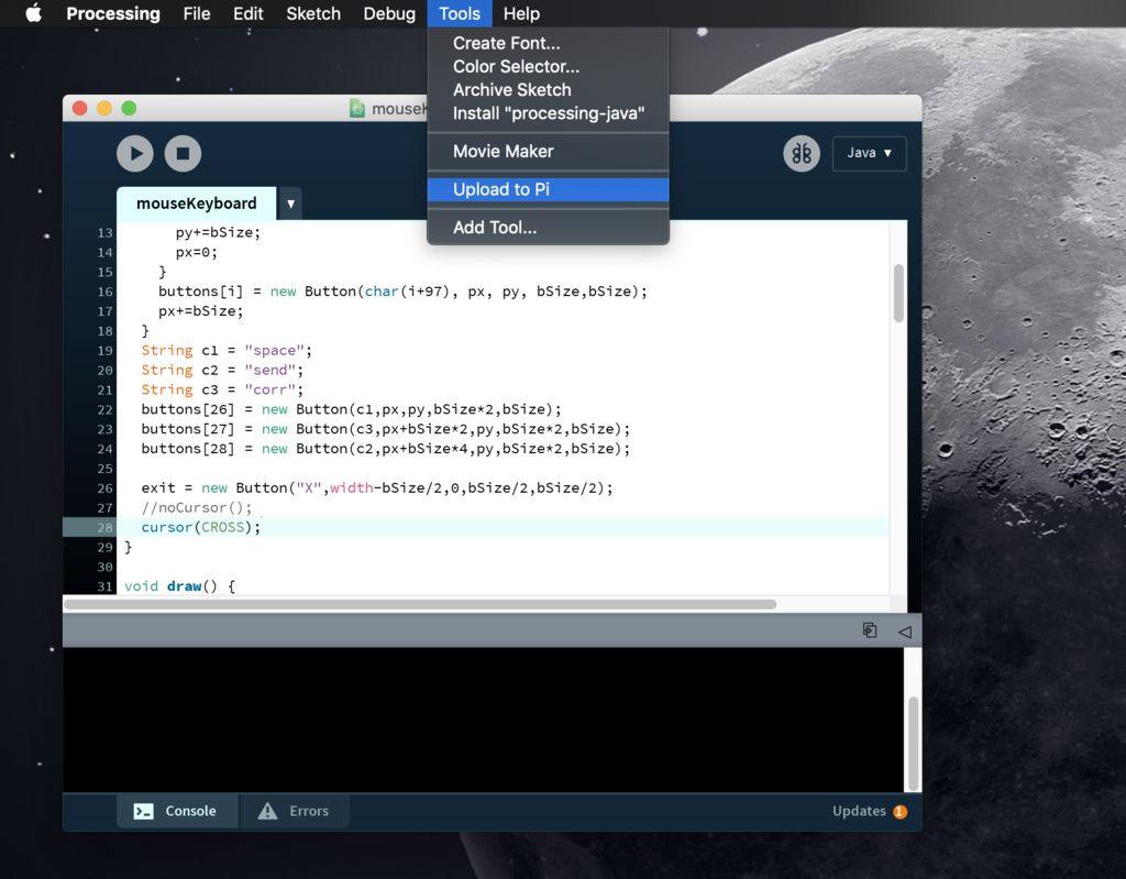 Picture of Upload Python and Processing Scripts to the Pi