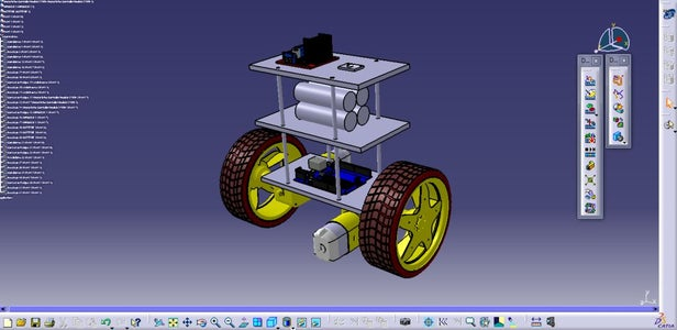 Design of the Chasis Using CATIA V5: