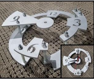 Waterjet Industrial Clock