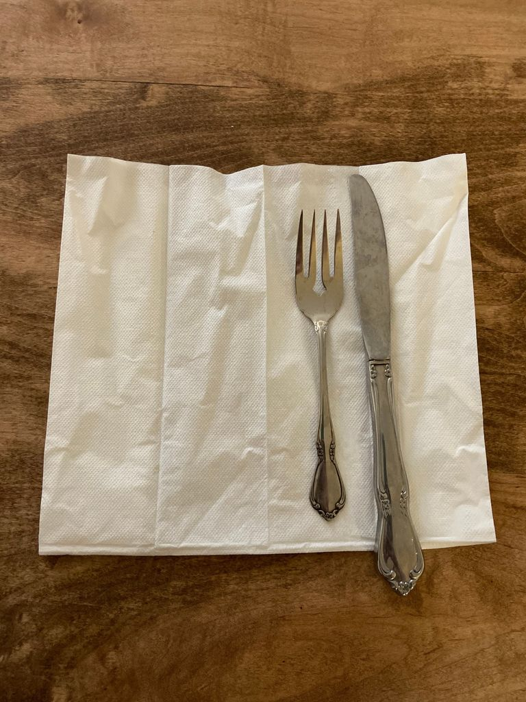 Picture of How to Roll Silverware