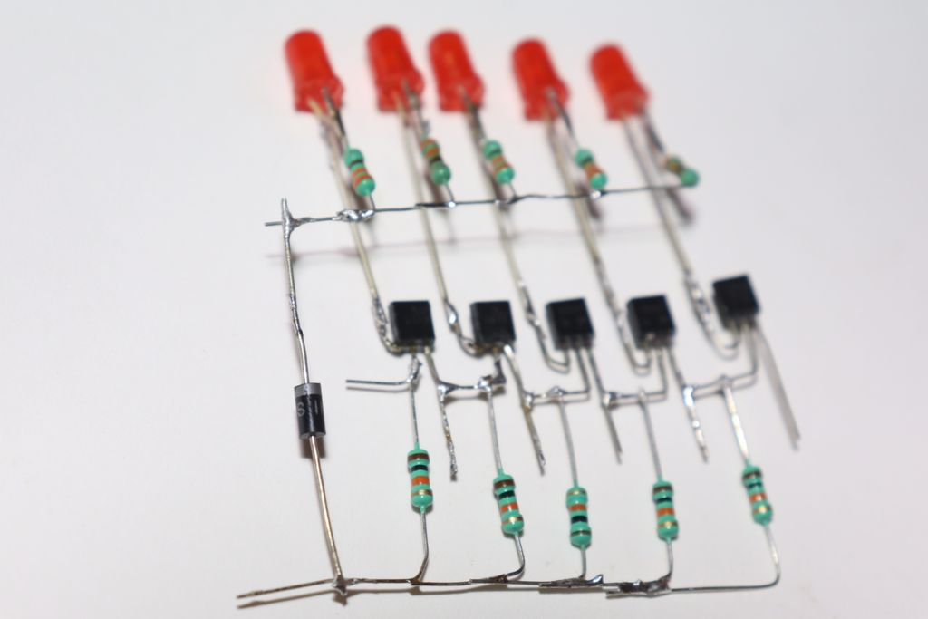 Picture of Connect Diode and +ve Legs of All LED
