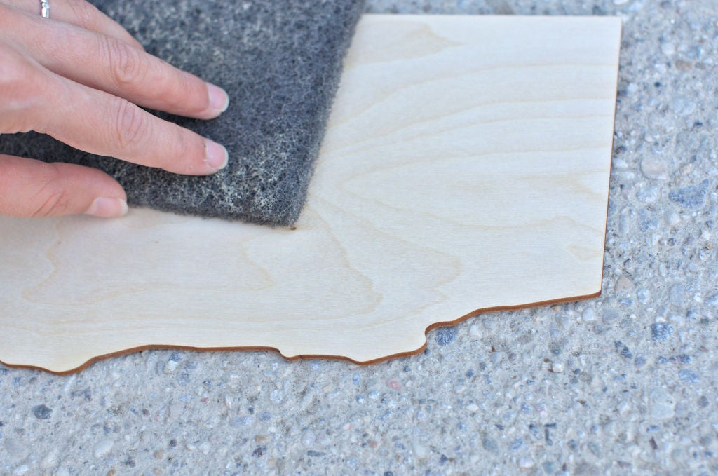 Picture of Sanding the Laser Cut Parts