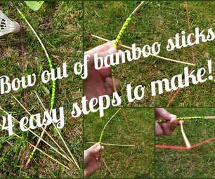 Bow Out of Bamboo Sticks