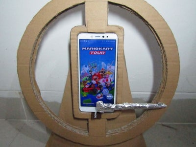 DIY Cardboard Gaming Steering Wheel