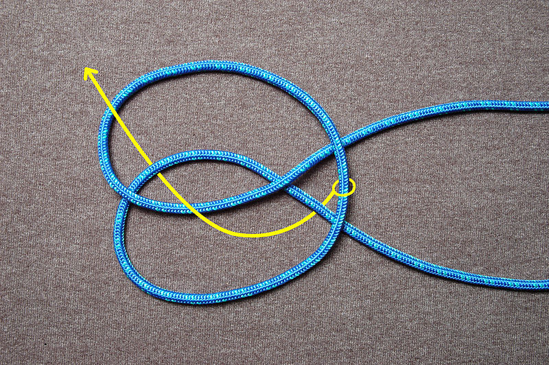 Picture of Tie a SINGLE Jug Knot