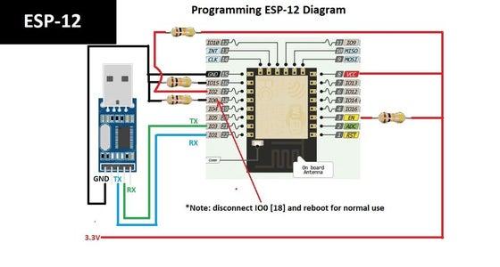Programming ESP8266 ESP-12