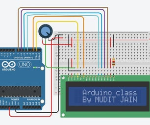 Interfacing LCD With Arduino on Tinkercad