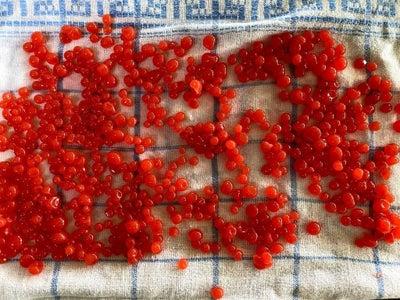 草莓鱼子酱