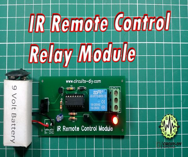 Picture of IR Remote Control Switch Using CD4017