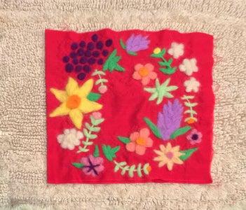 Victorian-inspired Needle Felt on Fabric
