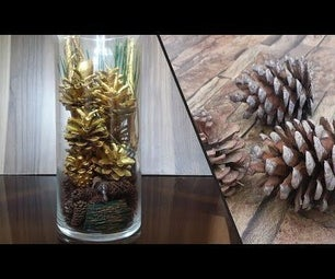 How to Make Pine Cone Terrarium| Pine Cone Diorama|5 Minutes Craft
