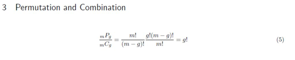Picture of Permutation and Combination