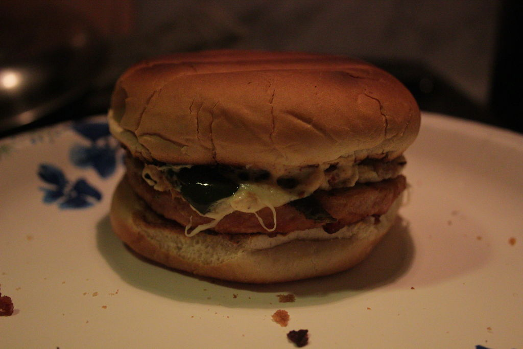 Picture of Stuffed Jalapeno Tex-Mex Turkey Burger