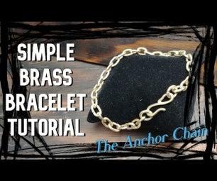 易黄铜手镯,锚链