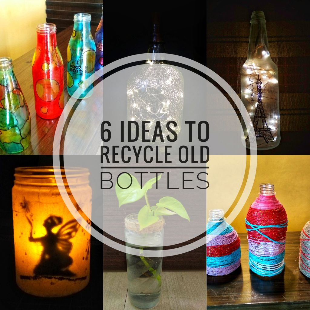 Picture of 6 Ideas to Recycle Old Bottles
