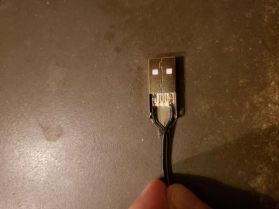 Making the Power Cord - USB End