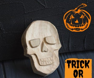 Carving a Skull Out of Wood I Wood Carving for Beginners