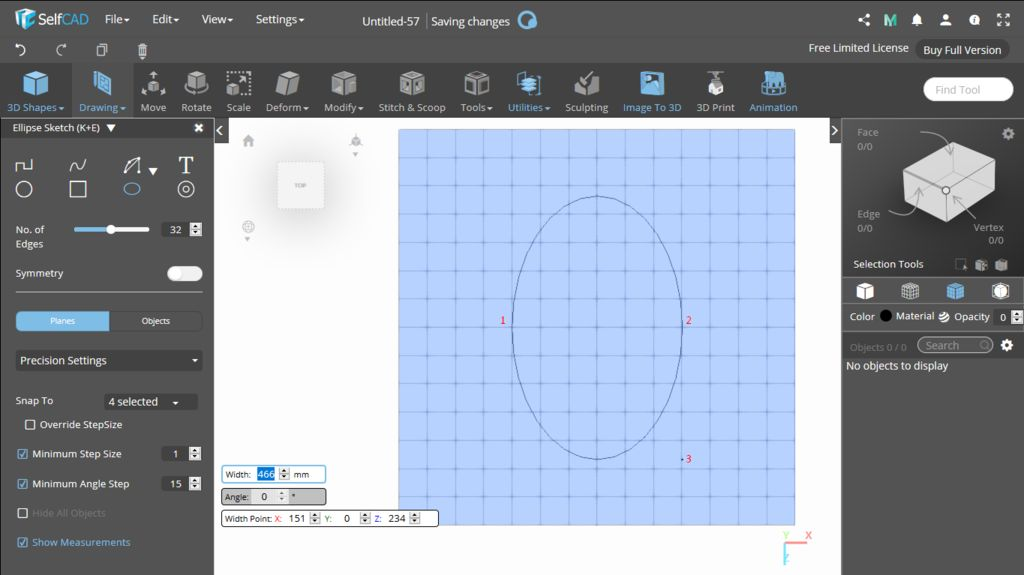 Picture of 3D Sketch: Ellipse