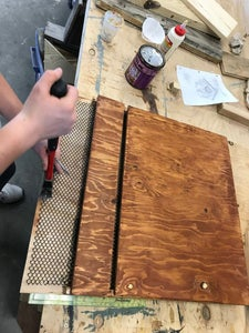 Nailing and Staining the Wood