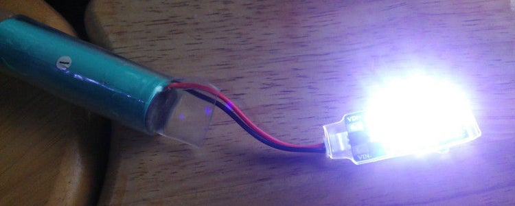 Make LED Light With DCDC and 18650