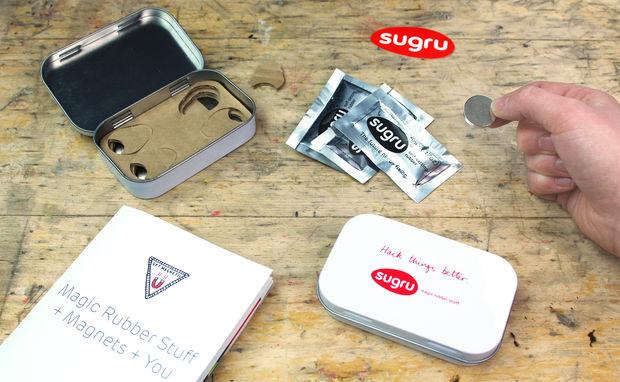 Find some neodymium magnets