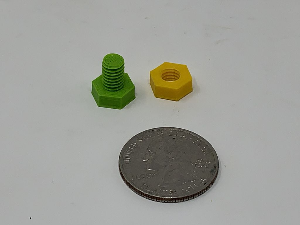 """Picture of The """"Nuts and Bolts"""" of How I Design, 3D Print and Prepare Nuts and Bolts."""