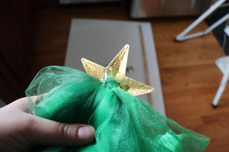 Attaching Tulle and Brooch Plate to Star