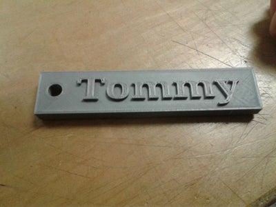 Name Key Chain