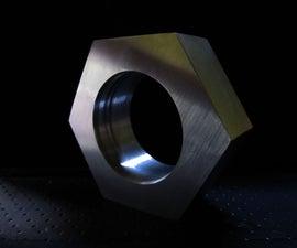 Large Faux Aluminium Nut