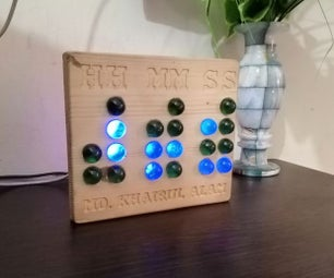 Binary Desk Clock