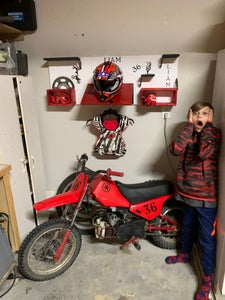 Motocross Gear Shelf