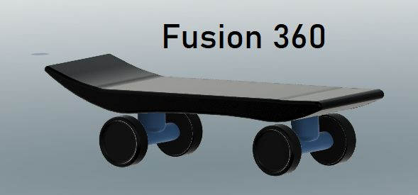Picture of Skateboard on Fusion 360