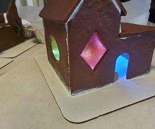 Glowing Gingerbread Houses