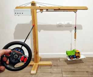 Powerful Huge Wooden Toy Crane DIY With Motor   Remote   Magnet
