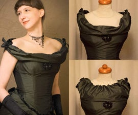 Victorian Ball Gown With an Autonomic Adjustable Neckline
