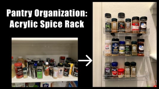 Spice Rack, Laser Cut From Acrylic